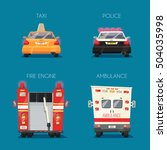 police  taxi  ambulance car and ... | Shutterstock .eps vector #504035998