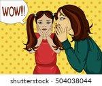 the mother of a little girl...   Shutterstock . vector #504038044