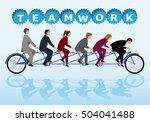 teamwork concept  group of... | Shutterstock .eps vector #504041488