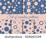 seamless pattern with circles.... | Shutterstock .eps vector #504042109