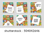 abstract vector layout... | Shutterstock .eps vector #504042646