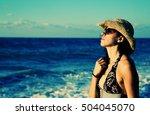 beautifull 40 years old woman... | Shutterstock . vector #504045070