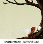 fairy reading a book    Shutterstock . vector #504046930