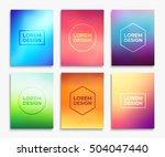 brochure flyer layouts in a4... | Shutterstock .eps vector #504047440