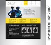 website design template. vector. | Shutterstock .eps vector #50404864