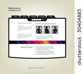 website design template. vector. | Shutterstock .eps vector #50404885