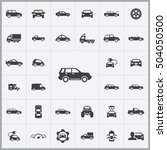 car icons universal set for web ... | Shutterstock . vector #504050500