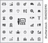 business strategy icons... | Shutterstock . vector #504050590