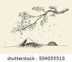 Sketch Of A Branch Of Sakura...