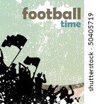 grunge sports crowd poster | Shutterstock .eps vector #50405719