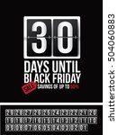 countdown to black friday sale... | Shutterstock .eps vector #504060883