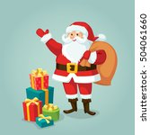 santa claus with gifts | Shutterstock .eps vector #504061660