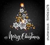 christmas gold tree | Shutterstock .eps vector #504061678