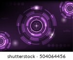 violet color abstract hi tech... | Shutterstock .eps vector #504064456