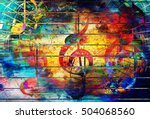 beautiful abstract colorful... | Shutterstock . vector #504068560