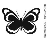 small butterfly icon. simple... | Shutterstock .eps vector #504069028