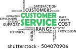 a word cloud of customer... | Shutterstock .eps vector #504070906