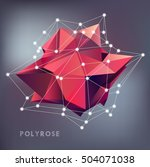 abstract polygonal geometry... | Shutterstock .eps vector #504071038