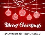 merry christmas. xmas... | Shutterstock .eps vector #504073519