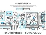illustration of vector modern... | Shutterstock .eps vector #504073720