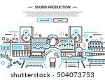 illustration of vector modern... | Shutterstock .eps vector #504073753