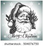 Santa Claus Head. Hand Drawn...