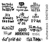 inspirational quotes about tea.... | Shutterstock .eps vector #504078160