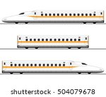 passenger express train.... | Shutterstock .eps vector #504079678
