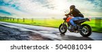 motorbike on the road riding.... | Shutterstock . vector #504081034