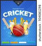 cricket event flyer  poster... | Shutterstock .eps vector #504081298