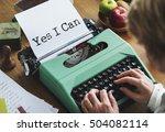 journalism working typewriting... | Shutterstock . vector #504082114
