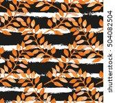 elegant seamless pattern with...   Shutterstock .eps vector #504082504