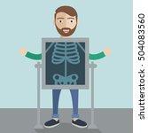 mobile health mhealth ... | Shutterstock .eps vector #504083560