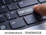 compliance  finger on modern... | Shutterstock . vector #504084028
