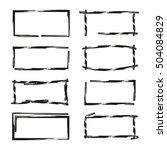 grunge border frames | Shutterstock .eps vector #504084829
