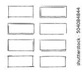 grunge border frames | Shutterstock .eps vector #504084844