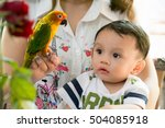 boy with parrot | Shutterstock . vector #504085918