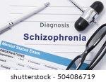 diagnosis schizophrenia.... | Shutterstock . vector #504086719