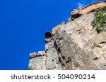 steep rock cliff   Shutterstock . vector #504090214