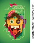 modern style illustration with... | Shutterstock .eps vector #504092449