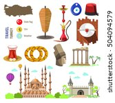 set of country turkey culture... | Shutterstock .eps vector #504094579