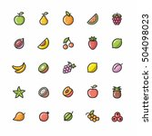 fruits icon set  illustrates ... | Shutterstock .eps vector #504098023