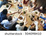 business team celebration party ... | Shutterstock . vector #504098410
