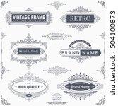set of creative vector... | Shutterstock .eps vector #504100873