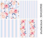 shabby chic patterns | Shutterstock .eps vector #504103900