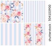 shabby chic patterns   Shutterstock .eps vector #504103900
