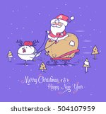 merry christmas and happy new... | Shutterstock .eps vector #504107959
