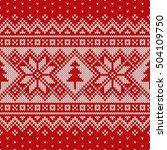 winter holiday seamless... | Shutterstock .eps vector #504109750