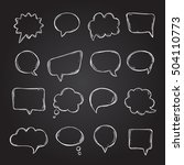 speech bubbles and thought... | Shutterstock .eps vector #504110773