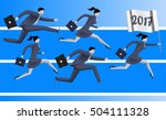 running to year 2017 business... | Shutterstock .eps vector #504111328